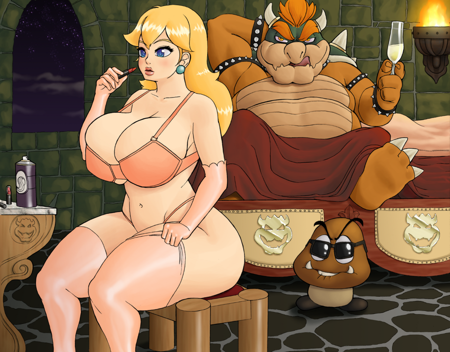 bed bowser and peach in Beware fool the eye of the yiga