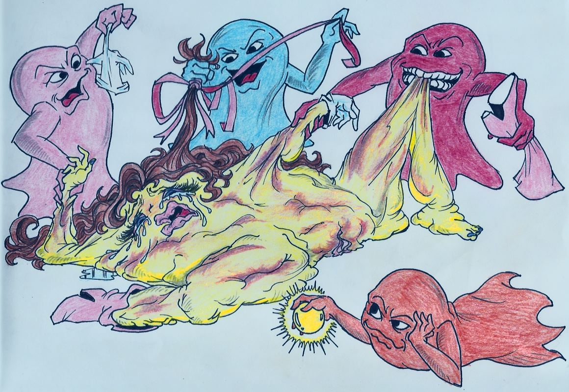 pac inky pinky man clyde blinky Drawings of raven from teen titans
